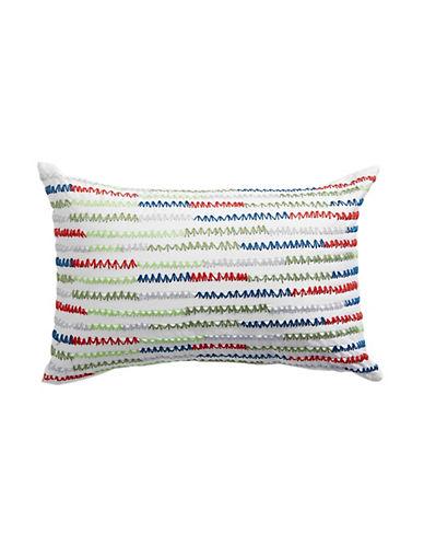 Distinctly Home Midnight Garden Zigzag Cushion-MULTI-12x20