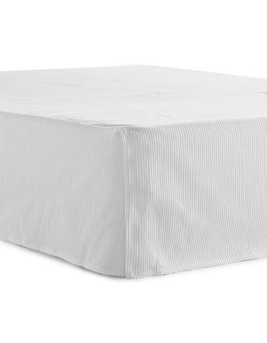 Glucksteinhome Classic White Bedskirt-WHITE-Queen