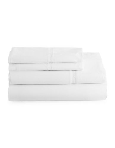 Glucksteinhome Classic White Four-Piece Sheet Set-WHITE-King