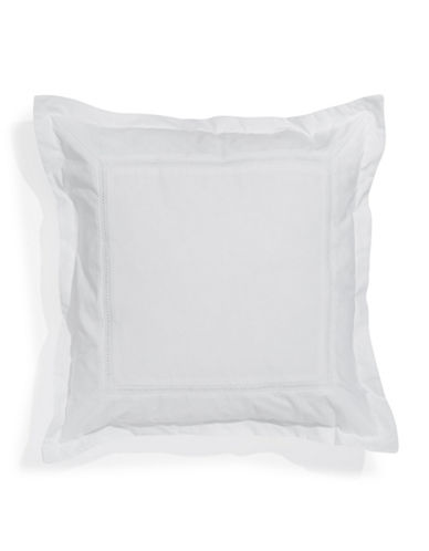 Glucksteinhome Classic White Square Cushion-WHITE-18x18