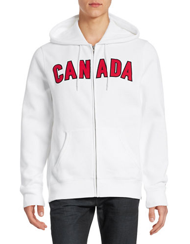 Canadian Olympic Team Collection Mens Canada Full-Zip Hoodie-WHITE-Large