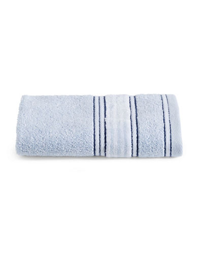 Glucksteinhome Border Stripe Cotton Washcloth-BLUE-Washcloth