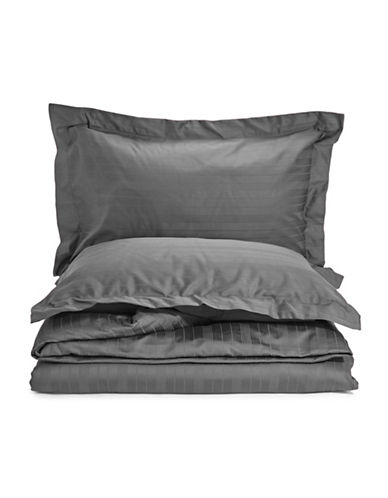 Distinctly Home Spectrum 520 Thread-Count Three-Piece Duvet Cover Set-SMOKEY PEARL-Queen
