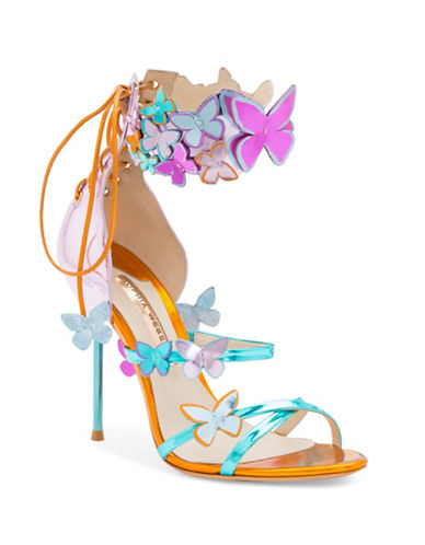 Sophia Webster Harmony Butterfly Leather Sandals-MULTI-EUR 38/US 8