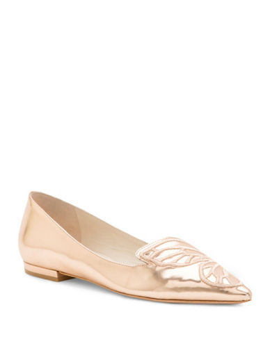 Sophia Webster Bibi Butterfly Leather Loafers-GOLD-EUR 38.5/US 8.5