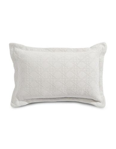 Glucksteinhome Bianca Matelasse Chenille Cushion-GREY-12x20
