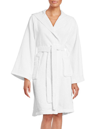 Dh Vibe Hooded Robe-WHITE-Small/Medium