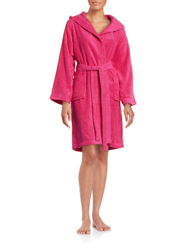 Dh Vibe Hooded Robe-MAGENTA-X-Small