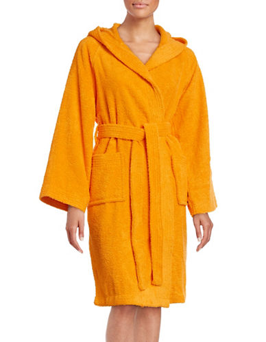 Dh Vibe Hooded Robe-APRICOT ORANGE-Small/Medium