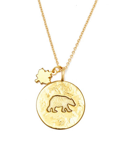 Canadian Olympic Team Collection Goldplated Polar Bear Necklace-GOLD-One Size