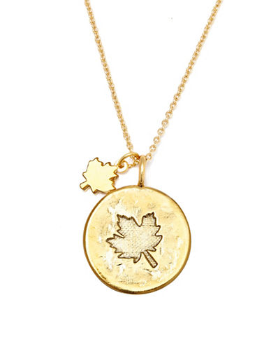 Canadian Olympic Team Collection Goldplated Maple Leaf Necklace-GOLD-One Size