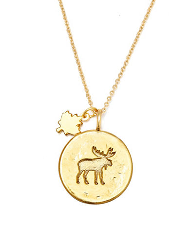 Canadian Olympic Team Collection Goldplated Moose Necklace-GOLD-One Size