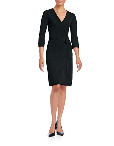 Diane Von Furstenberg New Julian Two Wrap Dress-BLACK-12