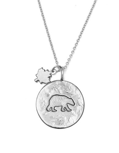 Canadian Olympic Team Collection Silverplated Polar Bear Necklace-SILVER-One Size