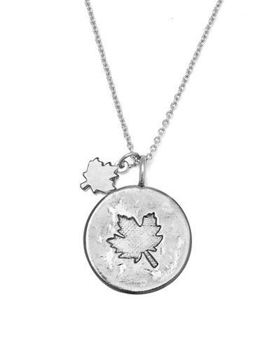 Canadian Olympic Team Collection Silverplated Maple Leaf Necklace-SILVER-One Size