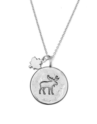 Canadian Olympic Team Collection Silverplated Moose Necklace-SILVER-One Size