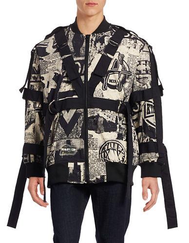 Ktz Big Newspaper Strappy Jacket-BEIGE-Large 88384117_BEIGE_Large