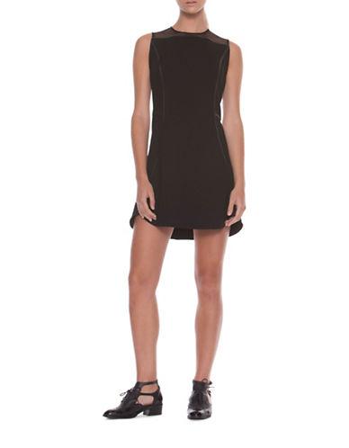 Co + Co Caileigh Birds Eye Scuba Dress-BLACK-6
