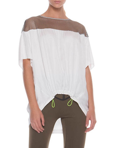 Co + Co Arissa Mesh Top-BEIGE-X-Small