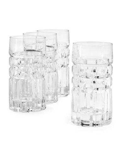 Glucksteinhome Alistair Highball Glasses Four-Set-CLEAR-One Size