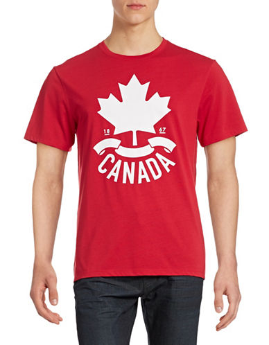 Canadian Olympic Team Collection Mens Leaf and Ribbon T-Shirt-RED-XX-Large 88393807_RED_XX-Large