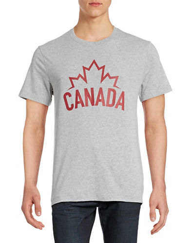 Canadian Olympic Team Collection Mens Canada Wordmark T-Shirt-GREY-X-Large 88393816_GREY_X-Large