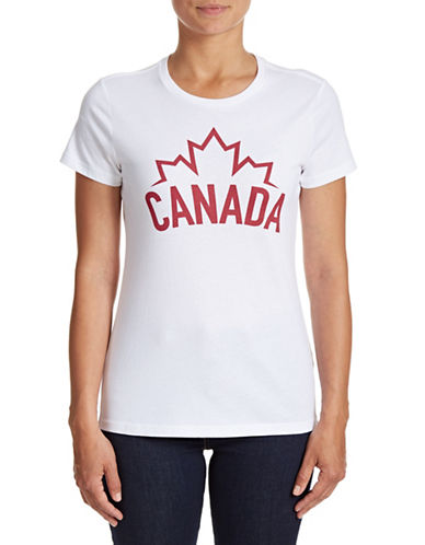 Canadian Olympic Team Collection Womens Canada Wordmark T-Shirt-WHITE-Small 88393934_WHITE_Small