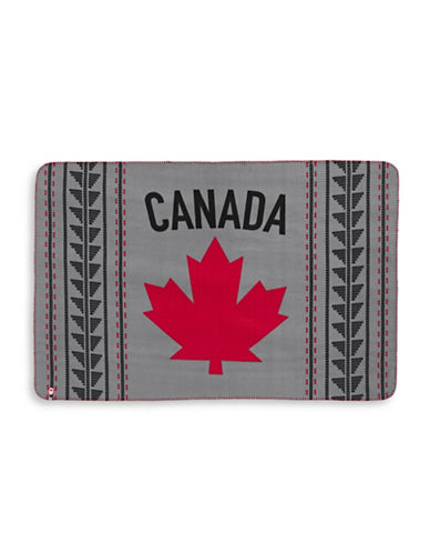 Canadian Olympic Team Collection Fair Isle Fleece Travel Blanket-GREY-One Size