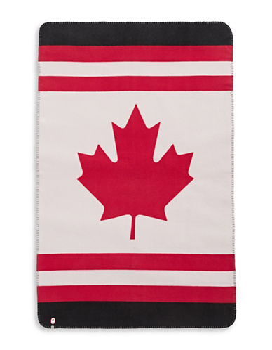 Canadian Olympic Team Collection Team Fleece Travel Blanket-BLACK-One Size