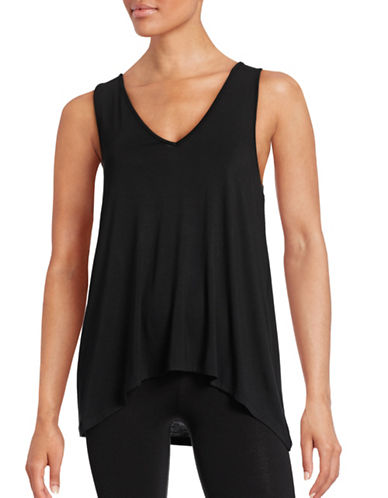 Lord & Taylor V-Neck Tank Top-BLACK-Medium 88411927_BLACK_Medium