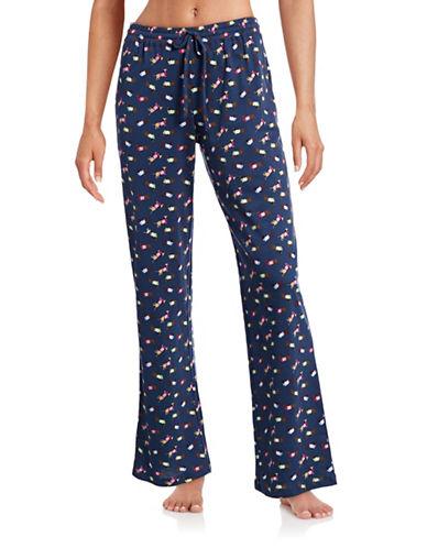 Lord & Taylor Printed Knit Pyjama Pants-BLUE-Large 88414143_BLUE_Large
