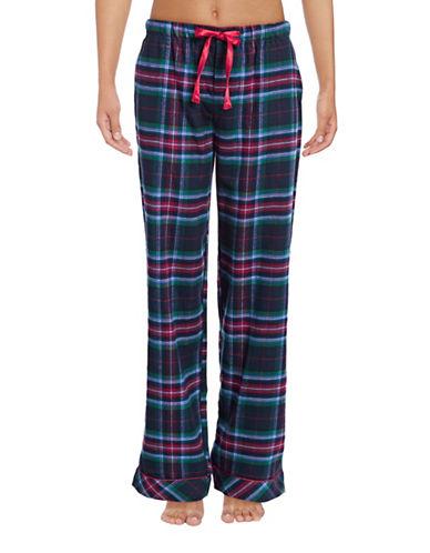 Lord & Taylor Boyfriend-Fit Flannel Pyjama Pants-BLUE-Large 88426276_BLUE_Large