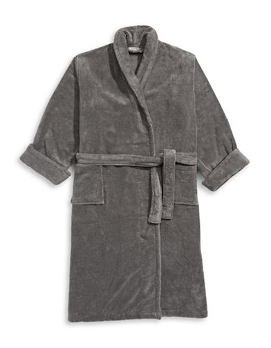 Glucksteinhome Ultimate Spa Robe-CHARCOAL-Large/X-Large