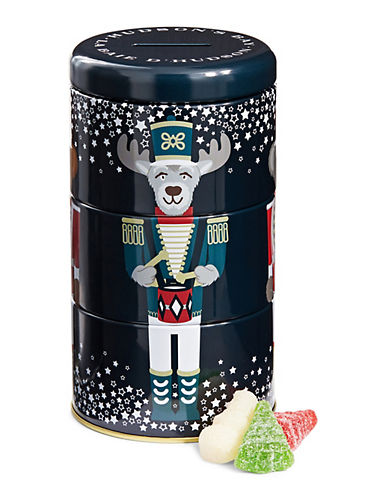 HudsonS Bay Company Festive Snowman and Tree Gummies in Tin-NO COLOUR-One Size