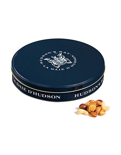 HudsonS Bay Company Praline Chocolate Covered and Roasted Nut Mix in Round Tin-NO COLOUR-One Size