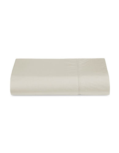 Glucksteinhome Siena Italian 300 Thread-Count Flat Sheet-TAUPE-Queen