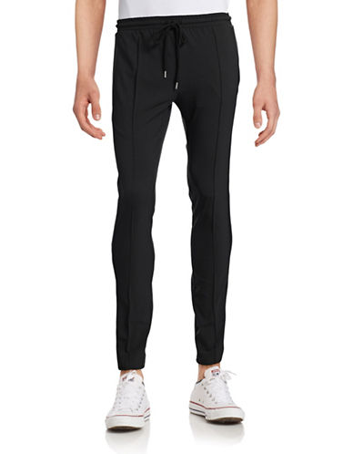 Markus Lupfer Tuxedo Virgin Wool-Blend Jogger Pants-BLACK-Medium 88504686_BLACK_Medium
