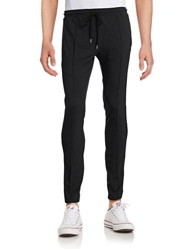 Markus Lupfer Tuxedo Virgin Wool-Blend Jogger Pants-BLACK-Small 88504685_BLACK_Small