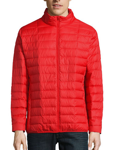 F.O.G. By London Fog Packable Quilted Down Jacket-RED-X-Large 88515762_RED_X-Large