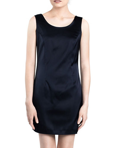 Sonia Arora Designs Satin Tank Dress-NAVY-10