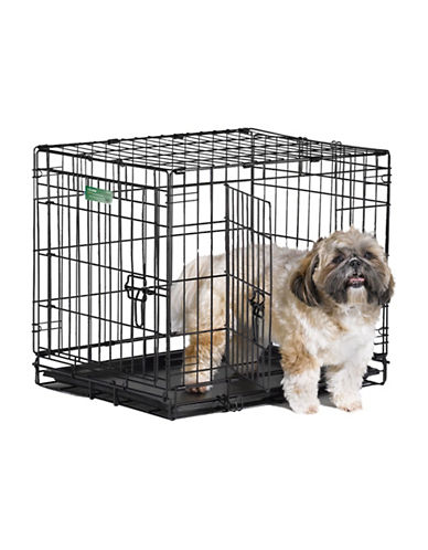 Midwest Home For Pets Midwest I-Crate Double Door Dog Crate 24-Inch-BLACK-One Size