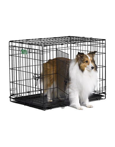 Midwest Home For Pets Midwest I-Crate Double Door Dog Crate 30-Inch-BLACK-One Size