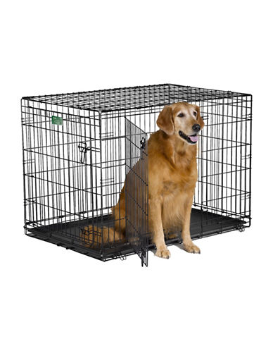 Midwest Home For Pets Midwest I-Crate Double Door Dog Crate 42-Inch-BLACK-One Size
