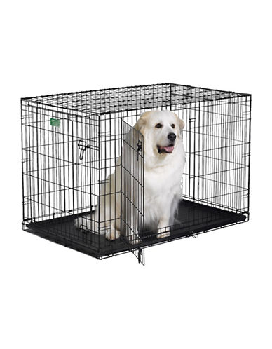 Midwest Home For Pets Midwest I-Crate Double Door Dog Crate 48-Inch-BLACK-One Size