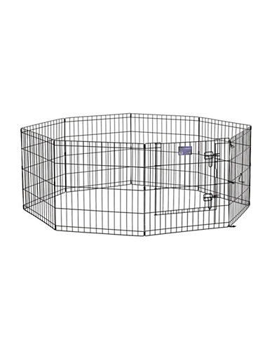 Midwest Home For Pets Midwest Exercise Pen with Door 24-Inch-BLACK-One Size