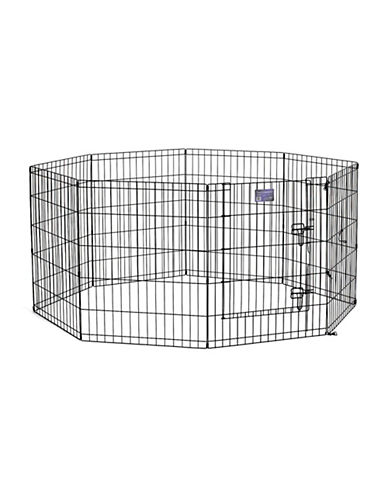Midwest Home For Pets Midwest Exercise Pen with Door 30-Inch-BLACK-One Size