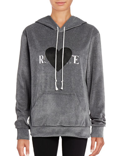 Rodarte Velour Heart Hoodie-GREY-Small 88578965_GREY_Small