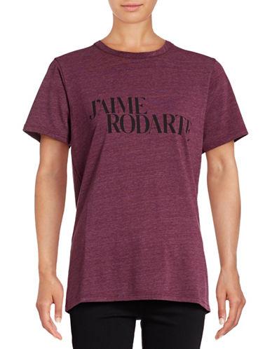 Rodarte Radarte Crew Neck T-Shirt-CHERRY-X-Small