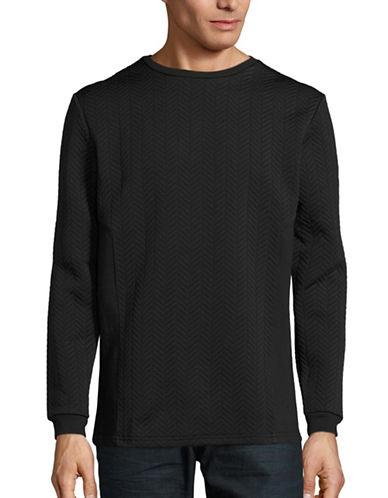Nana Judy Berline Quilted Combo Sweatshirt-BLACK-Large 88590762_BLACK_Large