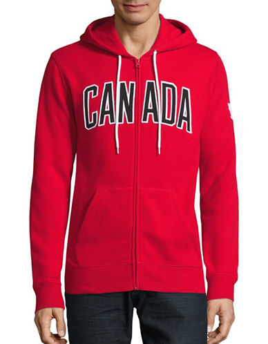 Canadian Olympic Team Collection Mens Canada Full-Zip Hoodie-RED-Small 88604006_RED_Small